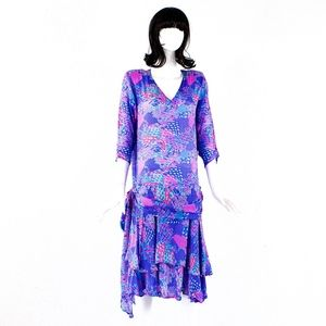 VTG 80's Chez Zvanni India SILK Dress